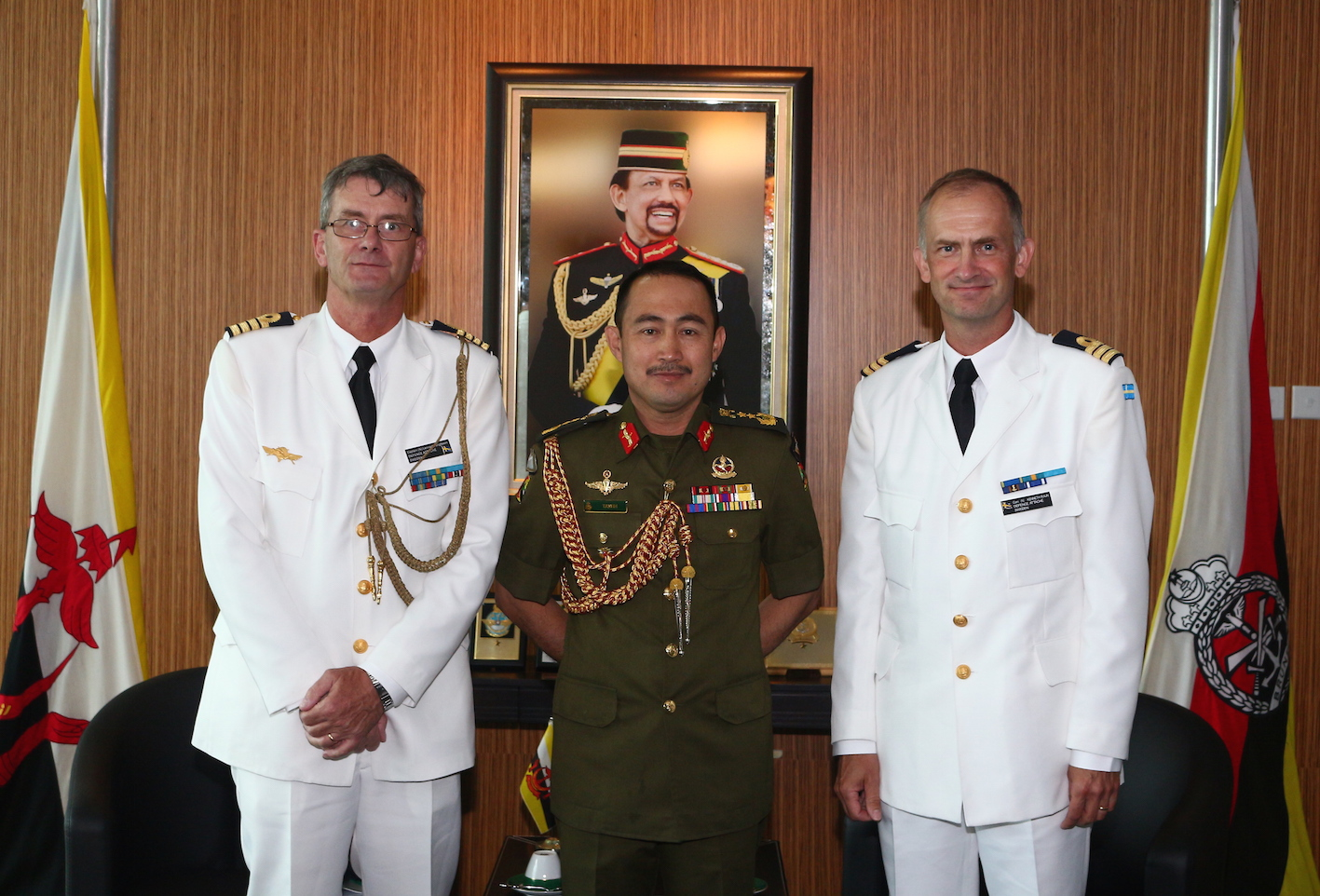 RBAF COMMANDER RECEIVED FAREWELL CALL FROM OUTGOING SWEDEN DEFENCE ATTACHE