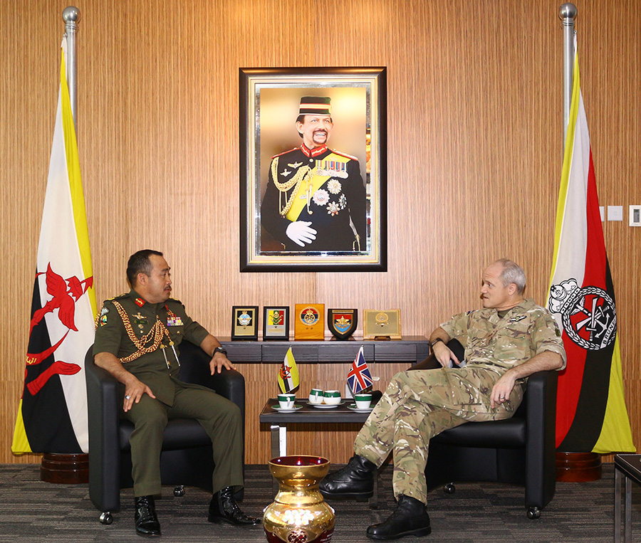 COURTESY CALL FROM COMMANDER UK JOINT HELICOPTER COMMAND