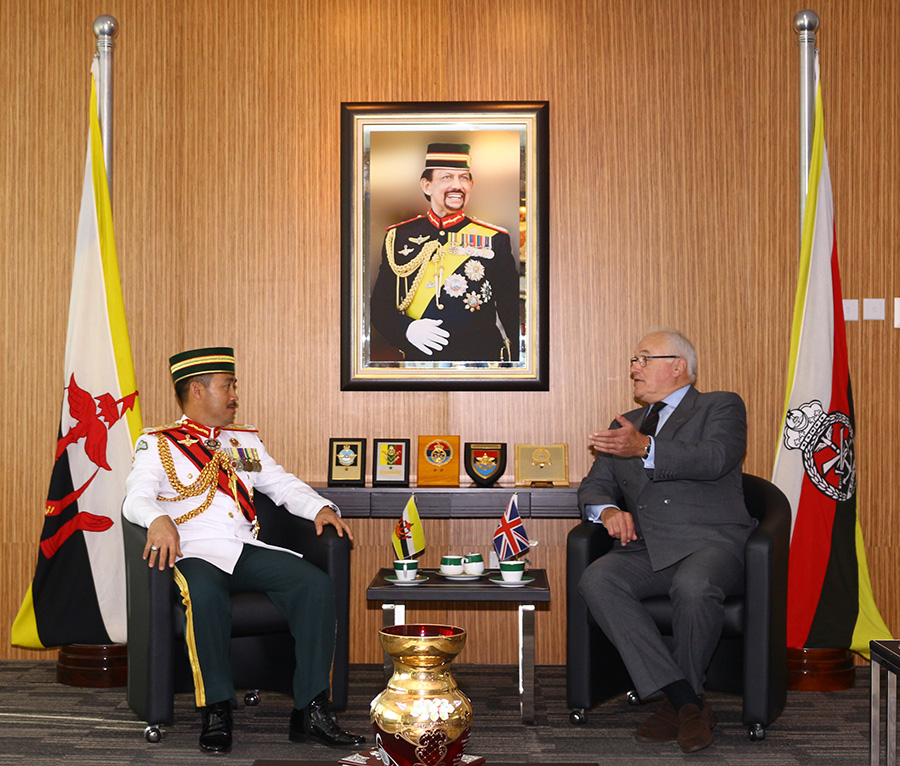 RBAF COMMANDER RECEIVED COURTESY CALL FROM COLONEL COMMANDANT BRIGADE OF GURKHAS