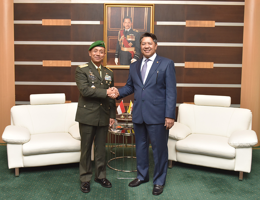 DEPUTY MINISTER OF DEFENCE RECEIVES CALL FROM CHIEF OF STAFF TNI-AD