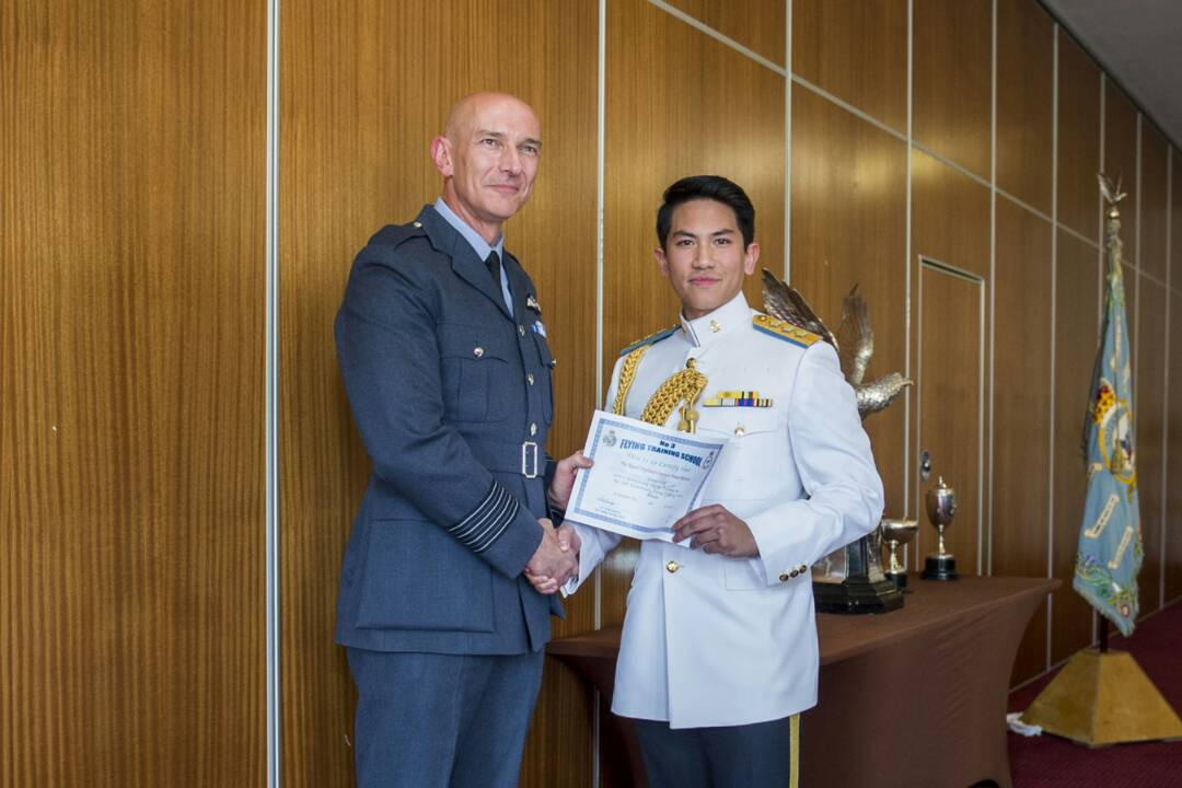 HIS ROYAL HIGHNESS PRINCE CAPTAIN 'ABDUL MATEEN GRADUATES FROM ELEMENTARY FLYING TRAINING (EFT) COURSE