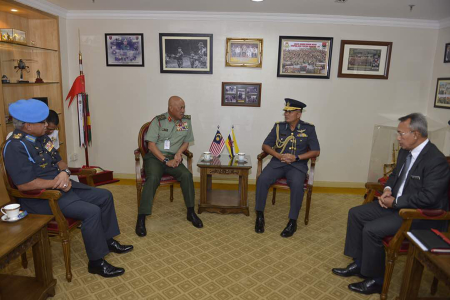 ROYAL BRUNEI AIR FORCE COMMANDER MAKES INTRODUCTORY VISIT TO MALAYSIA