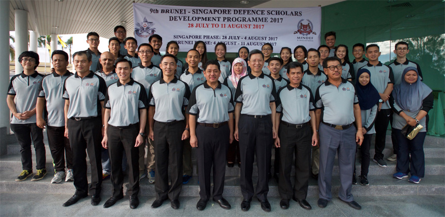CLOSING CEREMONY OF THE 9th BRUNEI-SINGAPORE DEFENCE SCHOLARS DEVELOPMENT PROGRAMME