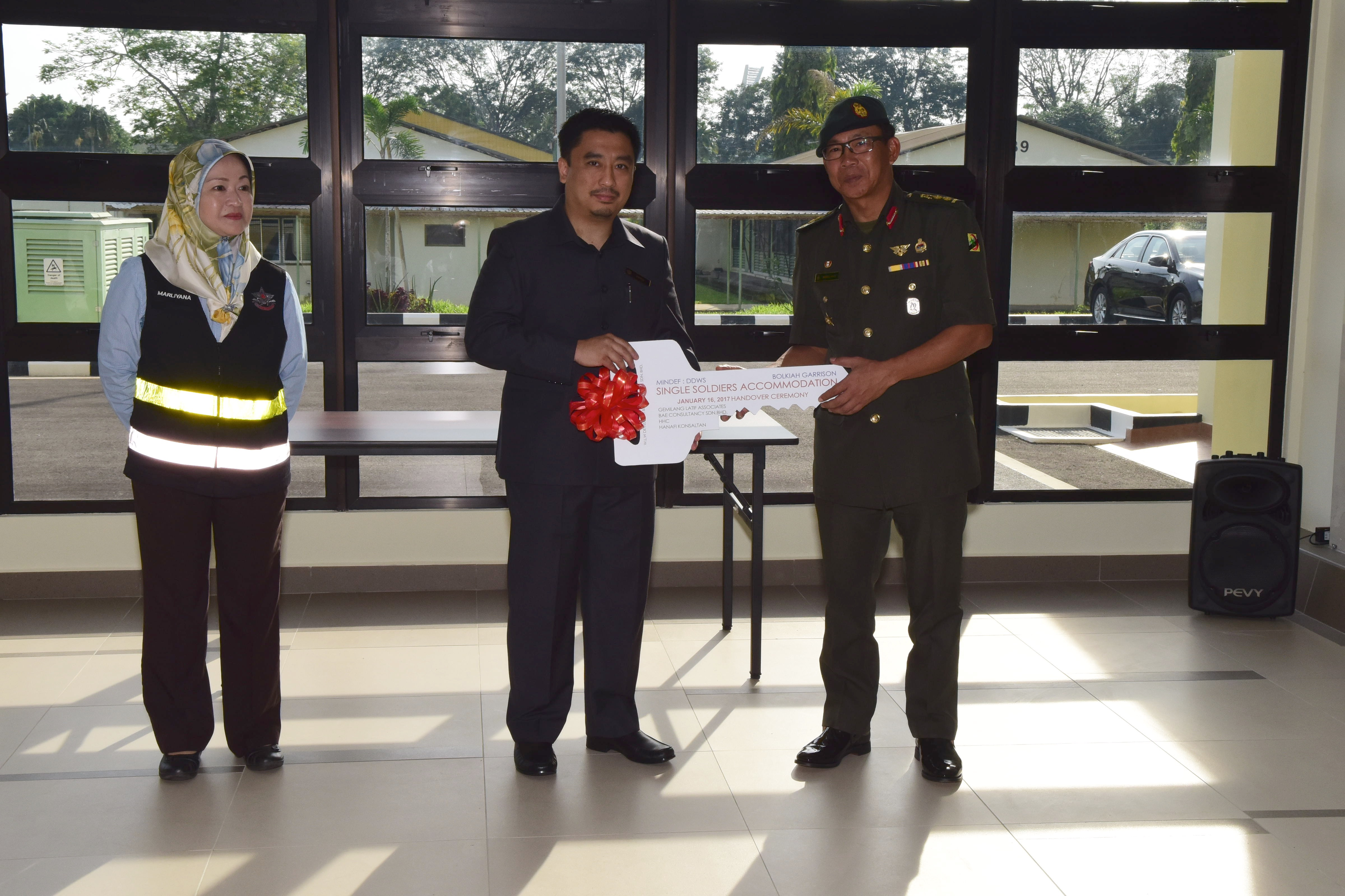 HANDOVER CEREMONY OF SINGLE SOLDIERS ACCOMMODATION, BOLKIAH GARRISON