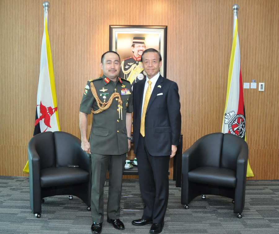 RBAF COMMANDER RECEIVES AN INTRODUCTORY CALL FROM THE AMBASSADOR EXTRAORDINARY AND PLENIPOTENTIARY OF JAPAN TO BRUNEI DARUSSALAM