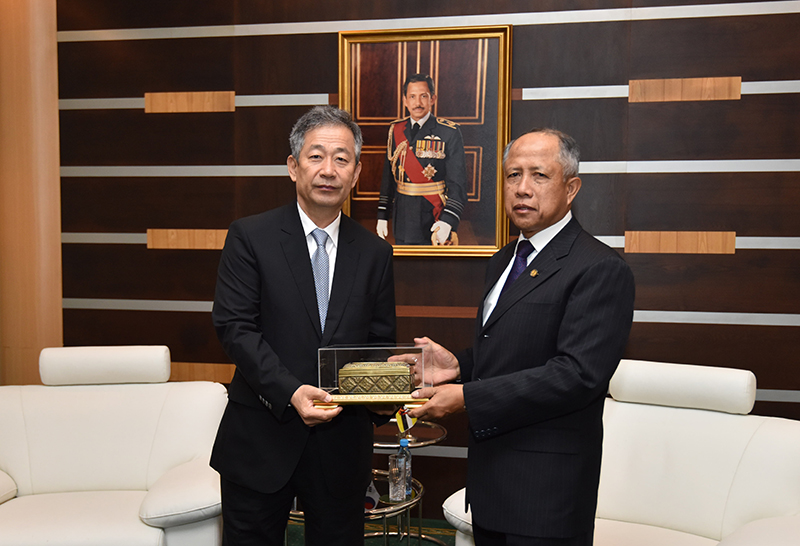 MINISTER OF DEFENCE II RECEIVES FAREWELL CALL BY OUTGOING AMBASSADOR  OF REPUBLIC OF KOREA TO BRUNEI DARUSSALAM