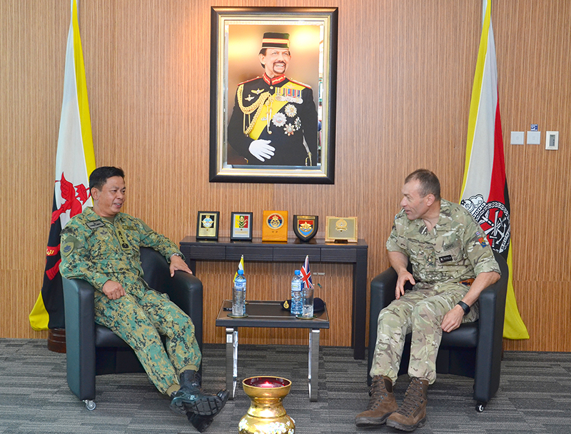 RBAF COMMANDER RECEIVES COURTESY CALL FROM REGIONAL JUNGLE WARFARE SYMPOSIUM KEYNOTE SPEAKER FROM THE UNITED KINGDOM