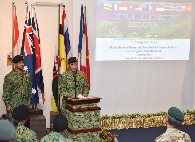 CLOSING CEREMONY OF REGIONAL JUNGLE WARFARE SYMPOSIUM 2018