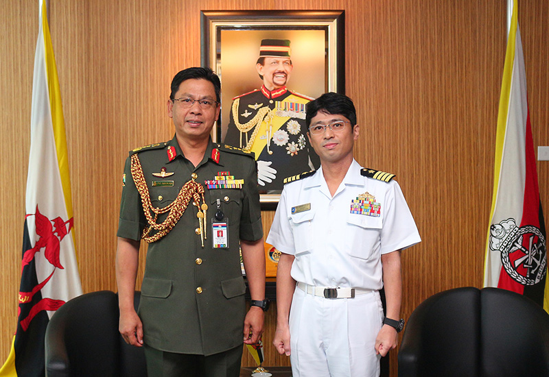 COMMANDER OF RBAF RECEIVES A COURTESY CALL FROM THE JAPAN MARITIME SELF-DEFENSE FORCE