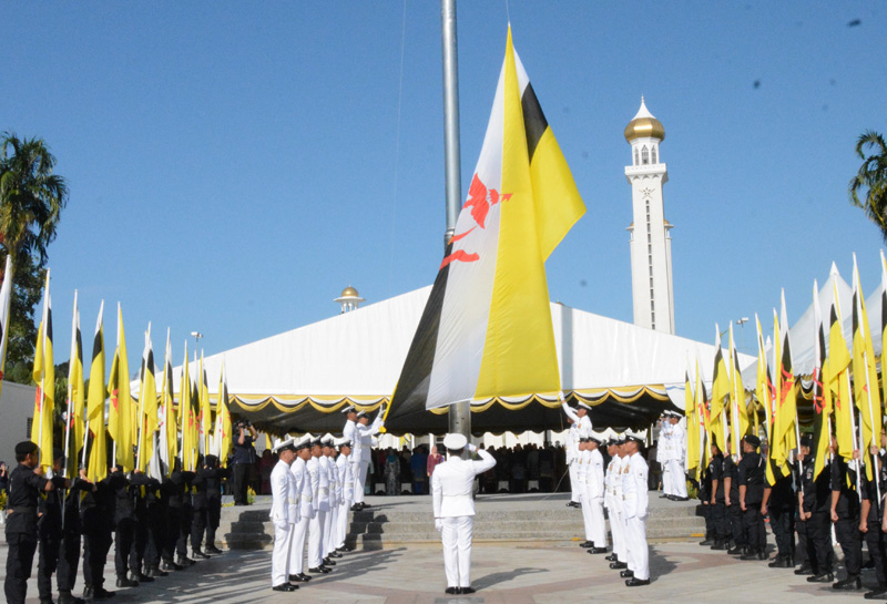 FLAG HOISTING CEREMONY TO MARK BRUNEI DARUSSALAM'S  34th NATIONAL DAY