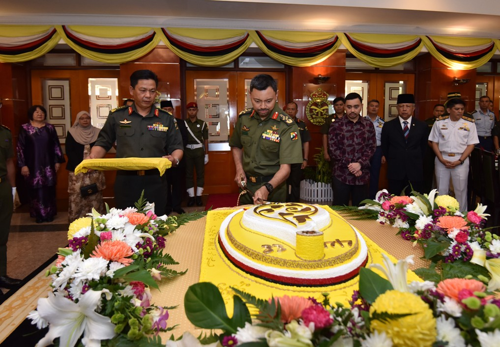 HIS ROYAL HIGHNESS THE CROWN PRINCE ATTENDS A HIGH TEA RECEPTION BY THE MINISTRY OF DEFENCE AND RBAF IN CONJUCTION OF HIS ROYAL HIGHNESS'  44th BIRTHDAY