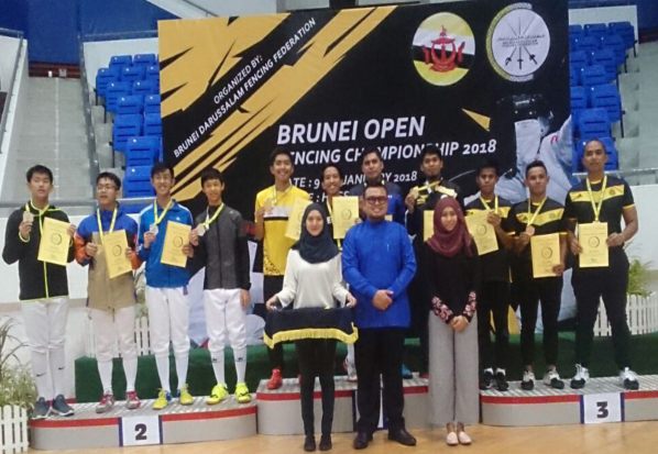 MS ABDB FENCING TEAM PARTICIPATES IN BRUNEI OPEN FENCING CHAMPIONSHIP 2018