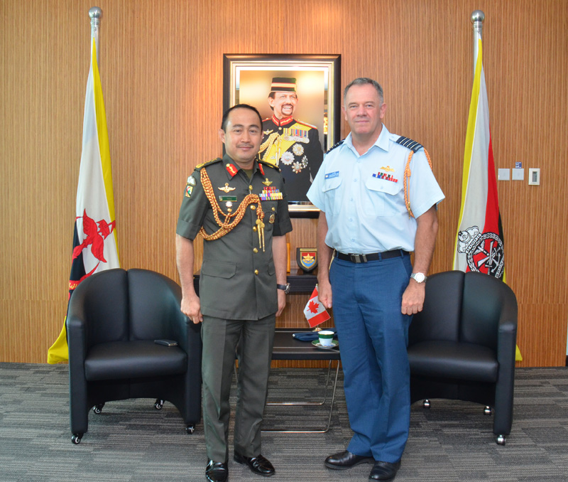 RBAF COMMANDER AND PERMANENT SECRETARY,  MINISTRY OF DEFENCE RECEIVE SEPARATE CALLS FROM DEFENCE ADVISER OF CANADA