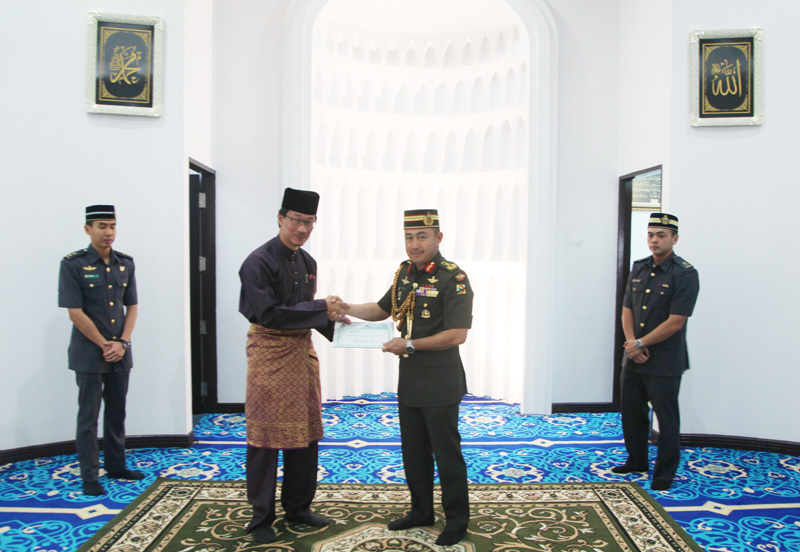 DONATION HANDOVER CEREMONY TO PENGIRAN MUDA MAHKOTA AL-MUHTADEE BILLAH FUND FOR ORPHANS (DANA)