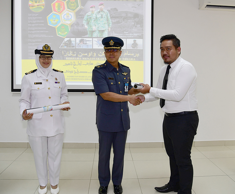 DISTRIBUTION OF POSTERS TO MARK 57th RBAF ANNIVERSARY