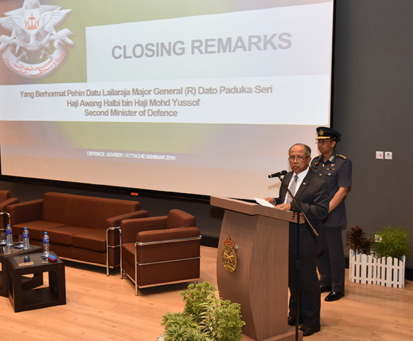 CLOSING CEREMONY OF THE SEMINAR HELD IN CONJUNCTION WITH THE DEFENCE ATTACHÉ/ADVISER CONFERENCE 2019