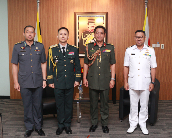 RBAF COMMANDER RECEIVED TWO SEPARATE INTRODUCTORY CALLS FROM NON-RESIDENT DEFENCE ATTACHÉS ACCREDITED TO BRUNEI DARUSSALAM