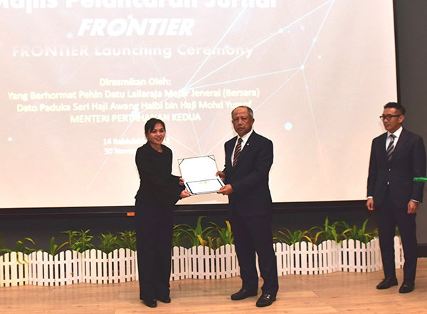 "​DEFENCE SCIENCE AND TECHNOLOGY JOURNAL ""FRONTIER"" LAUNCHED"