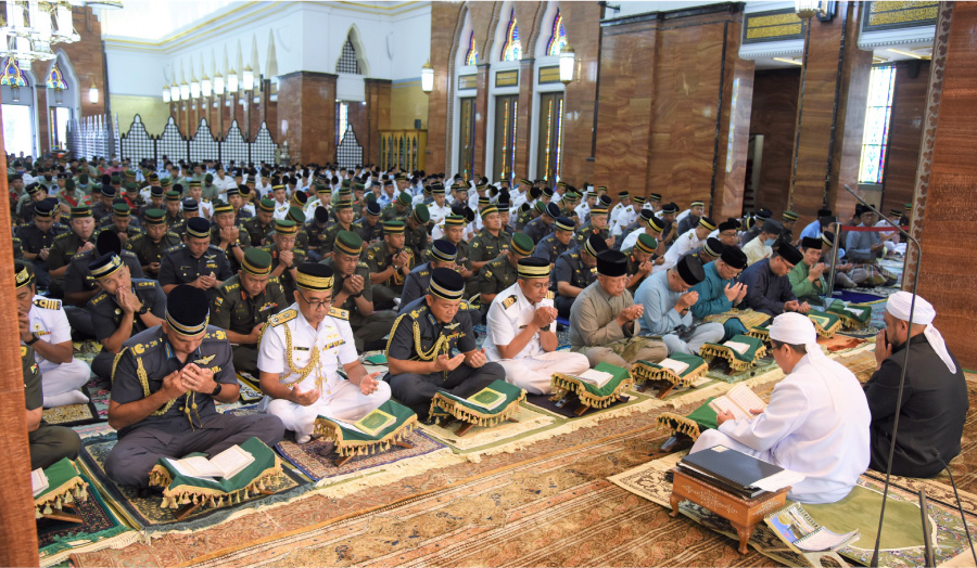 MINISTRY OF DEFENCE AND RBAF HELD TAHLIL FUNCTION AT SULTAN OMAR 'ALI SAIFUDDIEN MOSQUE