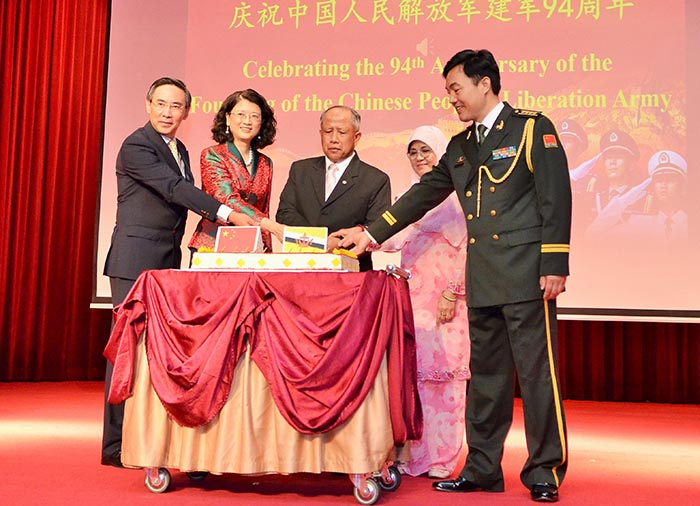 MINISTER OF DEFENCE II ATTENDS 94TH ANNIVERSARY OF THE FOUNDING OF THE CHINESE PEOPLE'S LIBERATION ARMY