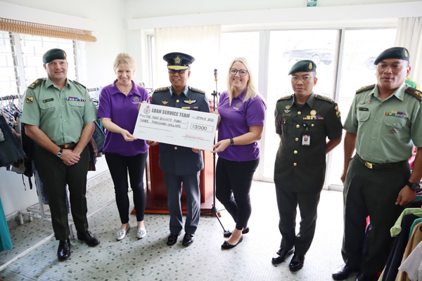 BRITISH LOAN SERVICE COMMUNITY SHOP DONATES TO THE RBAF CHARITY FUND