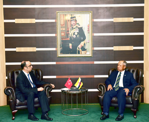 SECOND MINISTER OF DEFENCE RECEIVED FAREWELL CALL BY AMBASSADOR OF REPUBLIC OF TURKEY TO BRUNEI DARUSSALAM