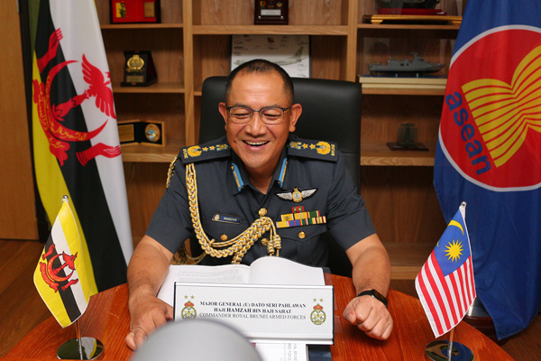 RBAF COMMANDER CONVENED A VIDEO CONFERENCE WITH CHIEF OF DEFENCE FORCE, MALAYSIAN ARMED FORCES