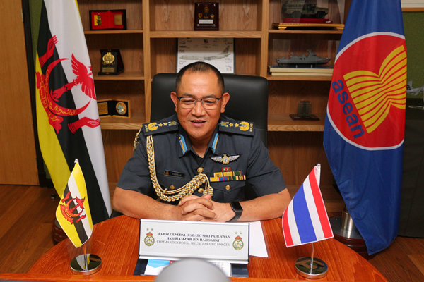 RBAF COMMANDER CONVENED A VIDEO CONFERENCE WITH CHIEF OF DEFENCE FORCE, ROYAL THAI ARMED FORCES