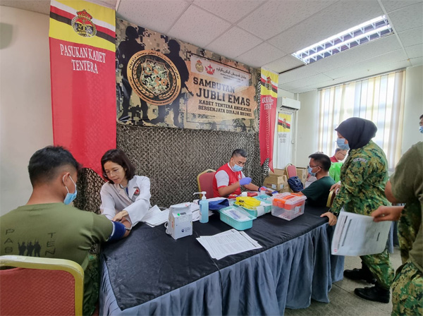 BLOOD DONATION CAMPAIGN IN CONJUCTION WITH GOLDEN JUBILEE BRUNEI CADET FORCE (BCF)
