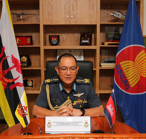 RBAF COMMANDER CONVENED A VIDEO CONFERENCE WITH COMMANDER-IN-CHIEF OF THE ROYAL CAMBODIAN ARMED FORCES