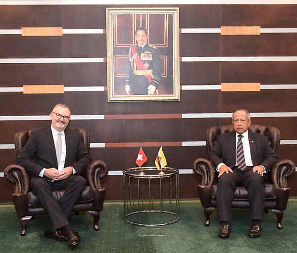 SECOND MINISTER OF DEFENCE RECEIVES COURTESY CALL FROM THE AMBASSADOR OF THE SWISS CONFEDERATION TO BRUNEI DARUSSALAM