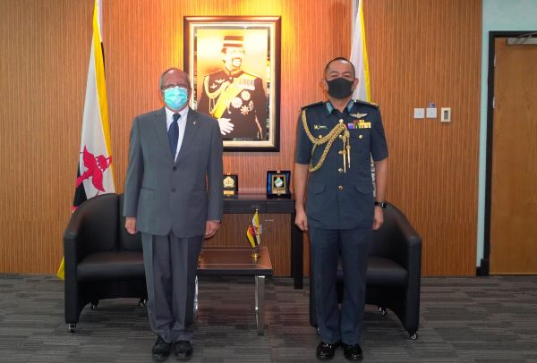 RBAF COMMANDER RECEIVES A FAREWELL CALL FROM THE AMBASSADOR OF THE REPUBLIC OF FRANCE TO BRUNEI DARUSSALAM