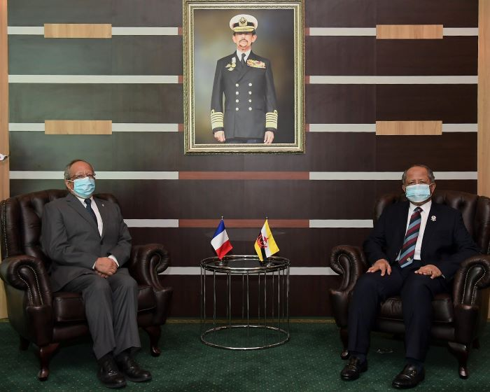 MINISTER OF DEFENCE II RECEIVES FAREWELL CALL FROM OUTGOING FRENCH AMBASSADOR TO BRUNEI DARUSSALAM