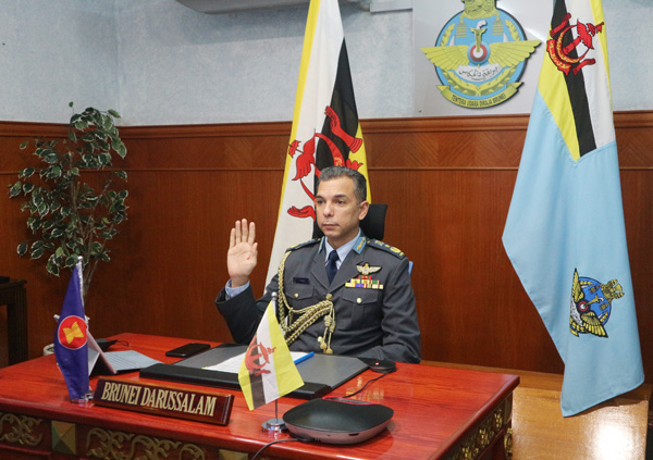 RBAirF COMMANDER ATTENDS 18th ASEAN AIR FORCE  CHIEFS CONFERENCE VIRTUALLY